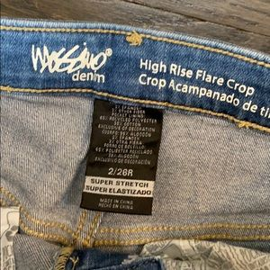 Target Mossimo high rise flare crop jeans, 2/26